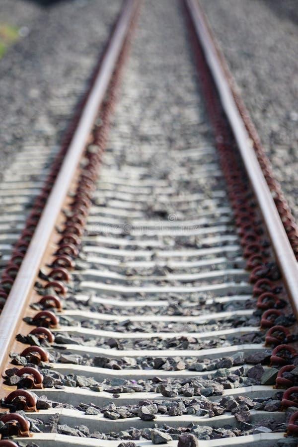 La longueur de train de la voie de chemin de fer photos libres de droits