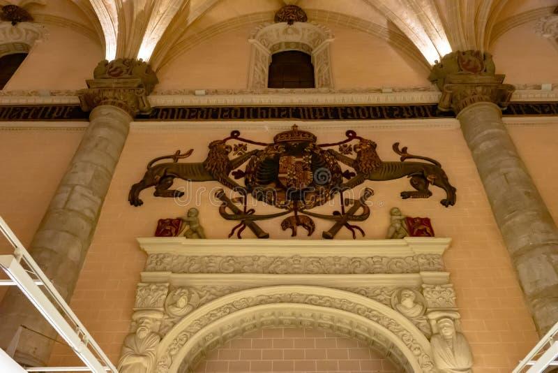 La Lonja exhibition hall in Zaragoza, Spain.  stock images