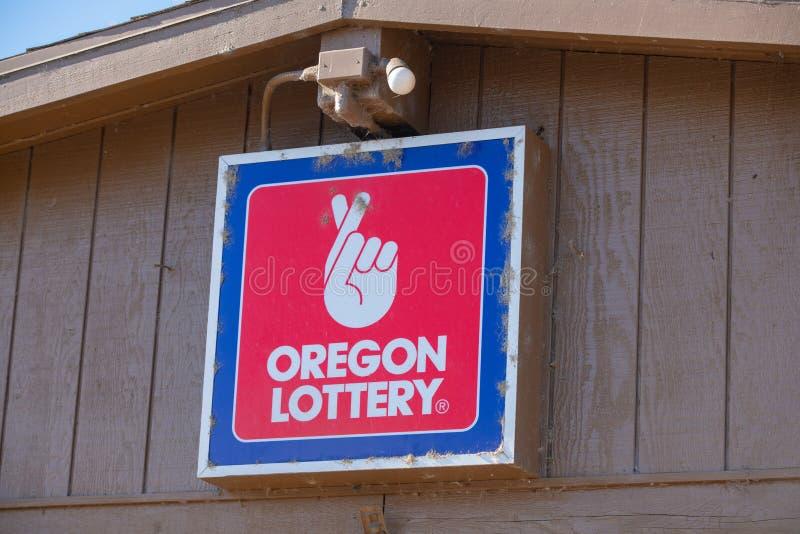 La loterie de l'Orégon se connectent le magasin photographie stock