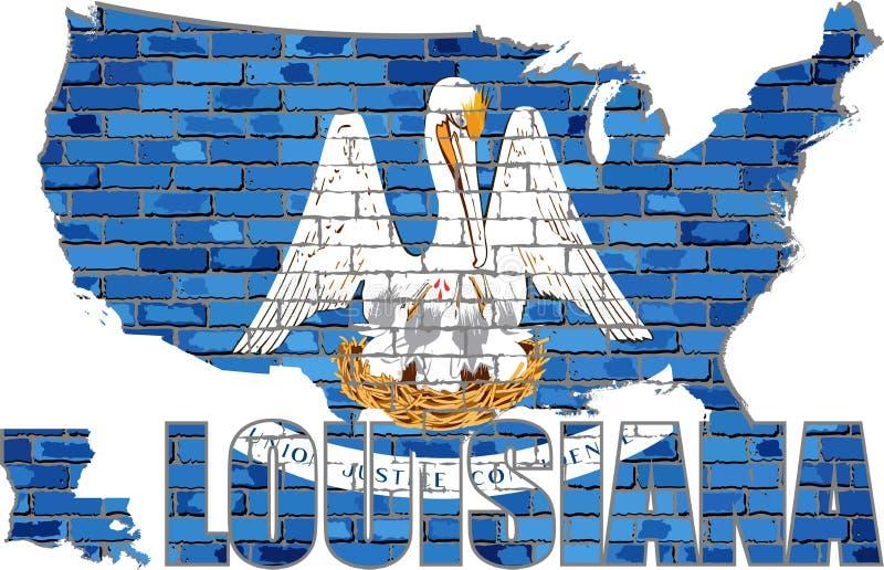 La Louisiane sur un mur de briques illustration libre de droits