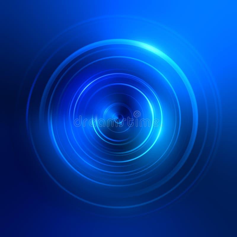 la luce blu circonda il fondo royalty illustrazione gratis