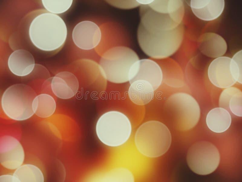 La luce luminosa della stella della stella, quanta effetti del bokeh mi fanno vede stasera illustrazione vettoriale