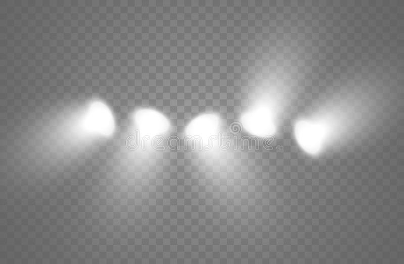 La luce splende dalla lampada Progettazione astratta dell'elemento di effetto speciale Raggio di lustro royalty illustrazione gratis