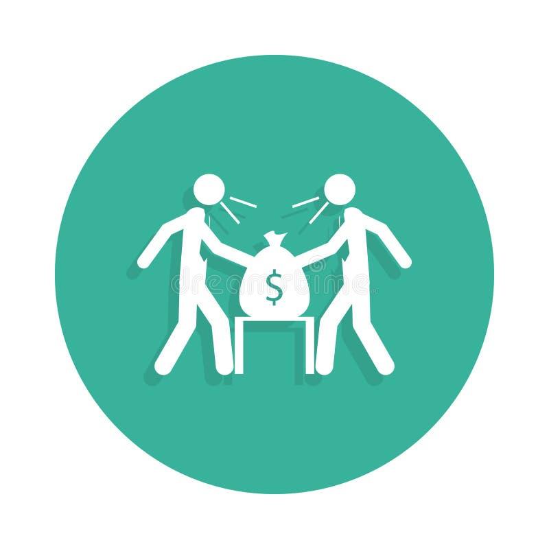 la lucha de los hombres de negocios del icono en estilo de la insignia ilustración del vector
