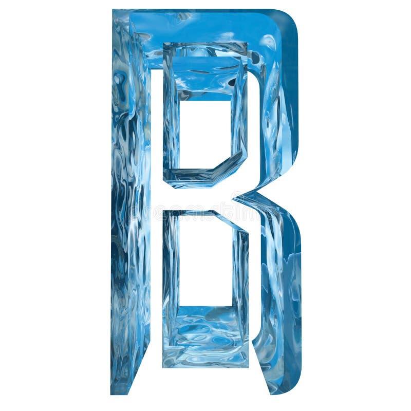 La lumière bleue conceptuelle a givré la police de saison d'hiver de glace d'eau illustration libre de droits