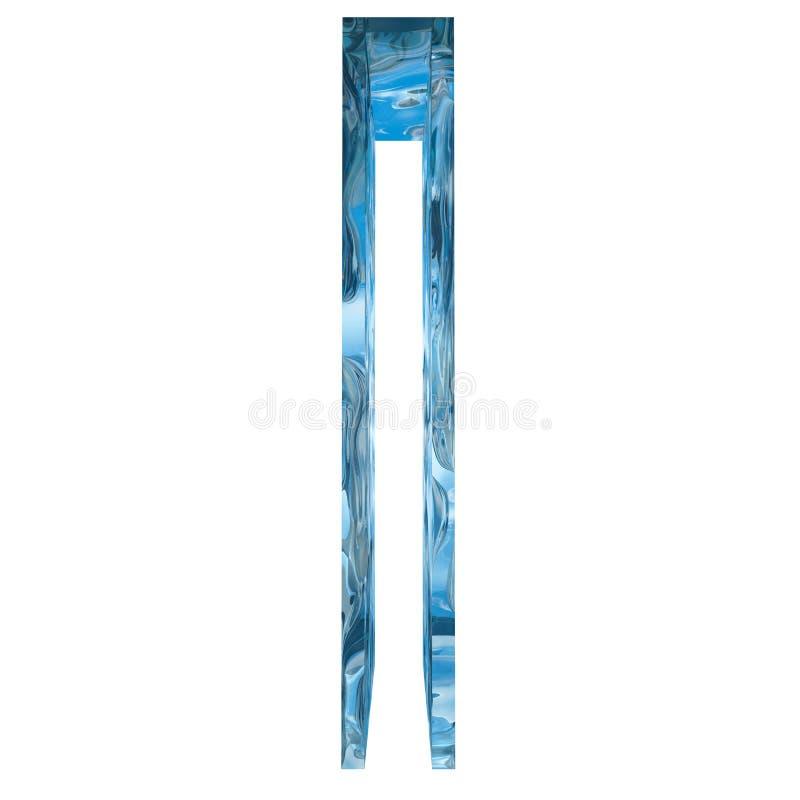 La lumière bleue conceptuelle a givré la police de saison d'hiver de glace d'eau illustration de vecteur