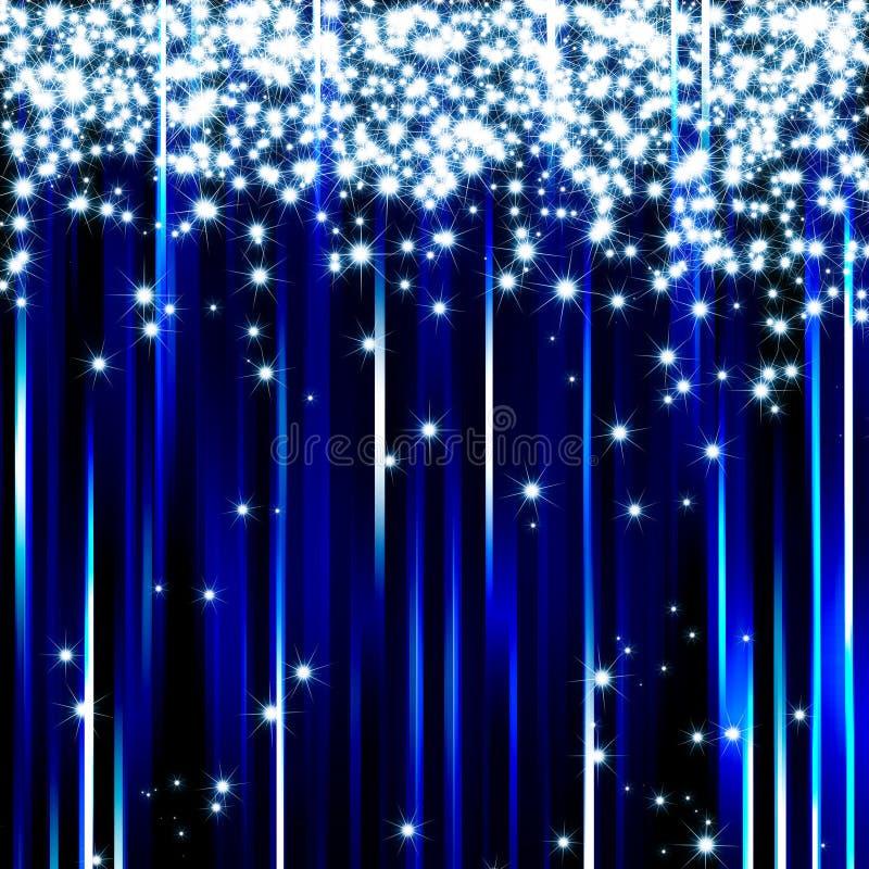 La lumière bleue de pétillement stars le fond illustration libre de droits
