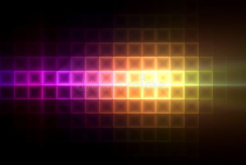 La lumière colorée ajuste le fond illustration libre de droits