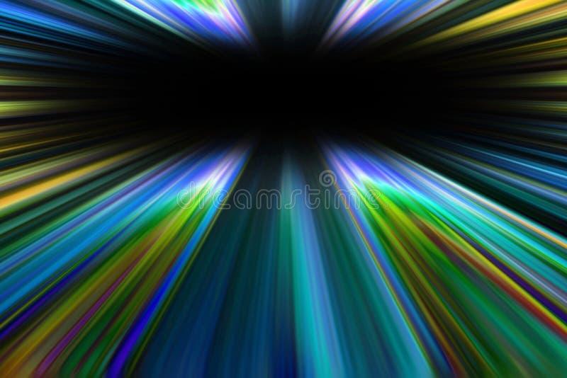 La lumière colorée de starburst traîne le fond illustration stock