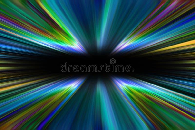 La lumière colorée de starburst traîne le fond illustration de vecteur