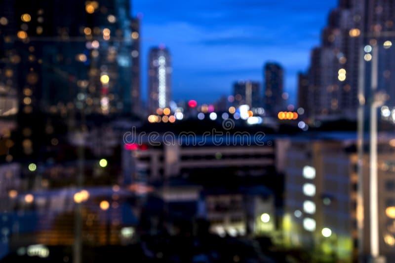 La lumière de la capitale la nuit et la lumière photo libre de droits