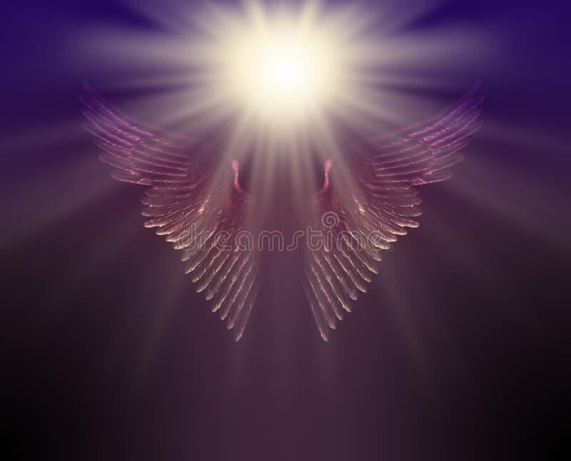 La lumière de guidage de votre ange gardien photo libre de droits