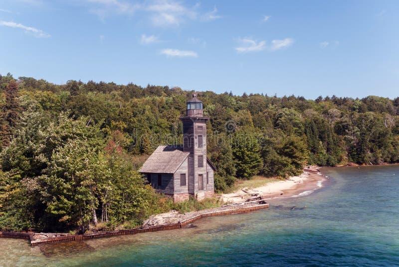 La lumière est de la Manche d'île grande, supérieur, Michigan, Etats-Unis photo libre de droits