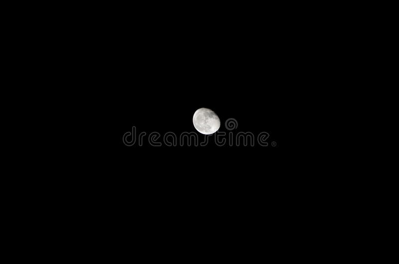 La luna… en una noche nublada foto de archivo libre de regalías