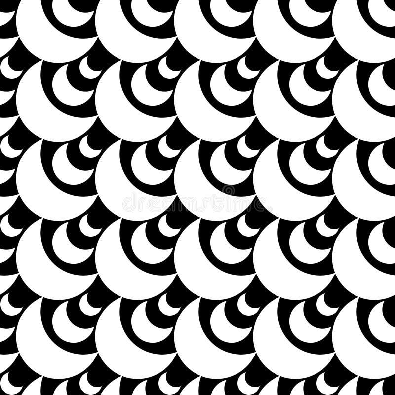La luna abstracta forma textura inconsútil ilustración del vector