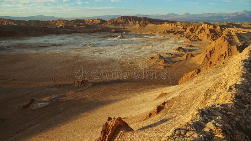 La Luna dans le désert d'Atacama, Chili de Valle De photo libre de droits