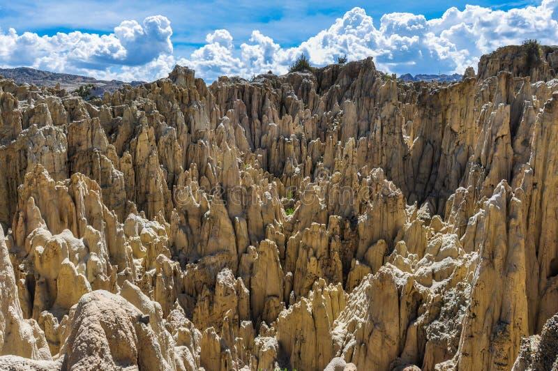 La Luna de Valle de cerca de La Paz, Bolivia imagen de archivo