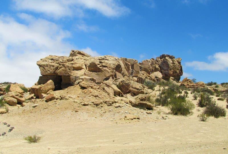 La Luna de Valle de das formações de rocha (Ischigualasto), Argentina imagens de stock