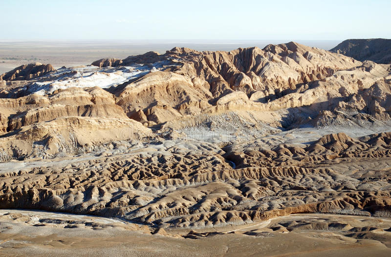 La Luna de Valle de - deserto de Atacama imagem de stock