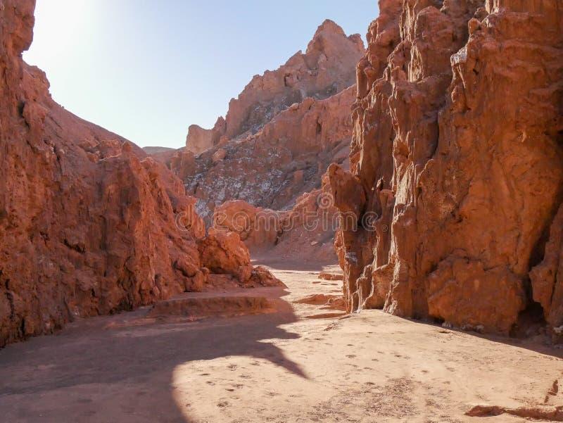 La Luna de Valle de San Pedro de Atacama Deserto fotografia de stock