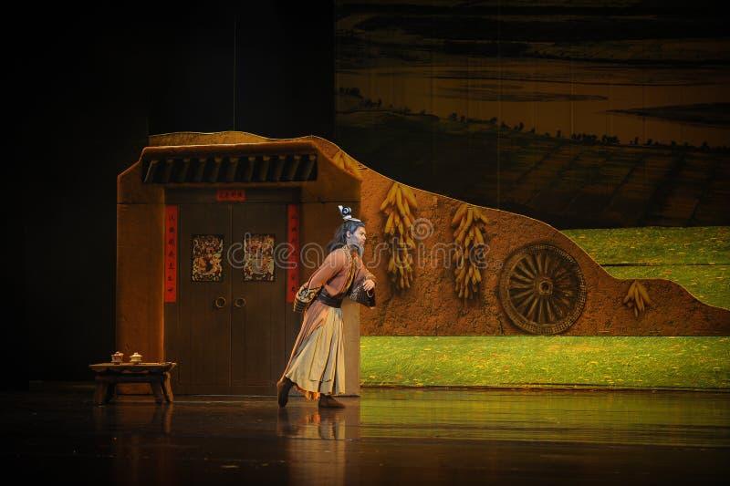 La luna di balletto degli anziani-Hui della famiglia di Han sopra Helan fotografia stock libera da diritti