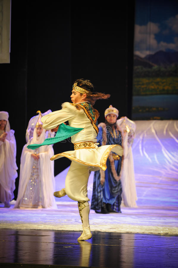 La luna di balletto di rotazione-Hui di principe sopra Helan fotografia stock