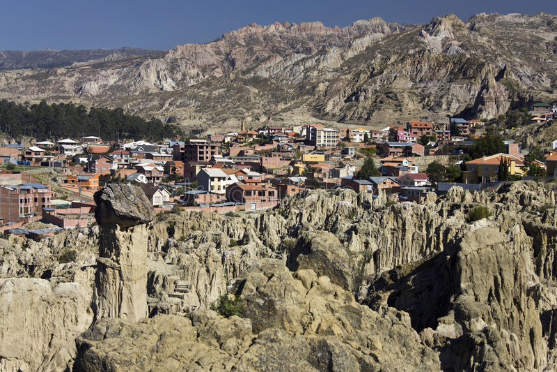 La Luna do de do vale em Bolívia imagem de stock royalty free