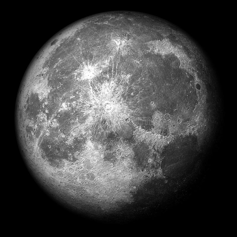 La luna estupenda 3d realista rinde libre illustration