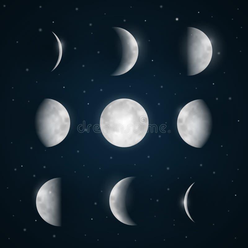 La luna organiza el ejemplo libre illustration