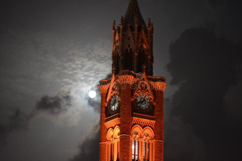 La luna sta bruciando come il sole immagini stock libere da diritti