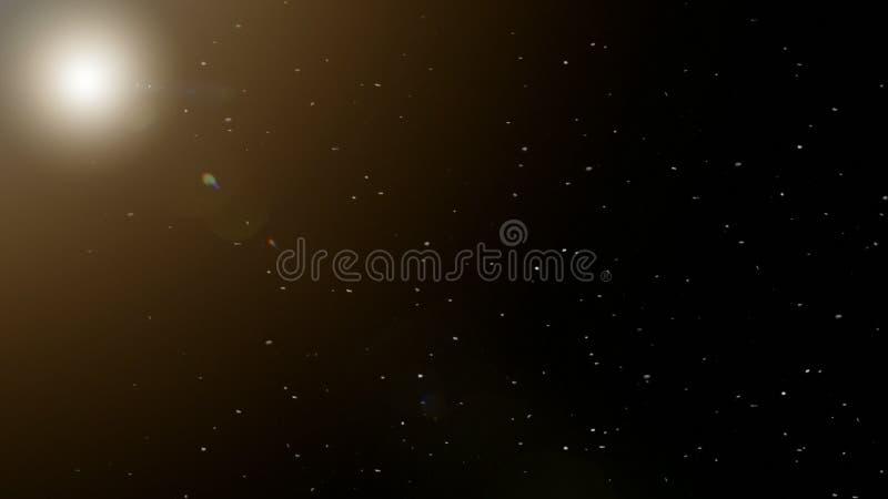 La luna su una notte nevosa immagini stock