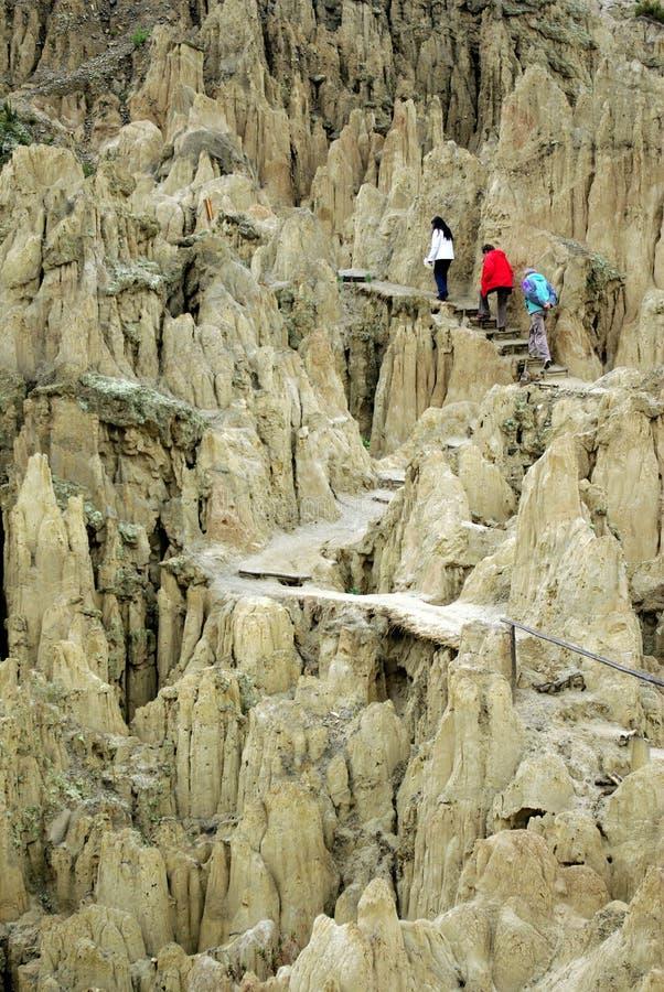 la luna valle Боливии de стоковое изображение rf