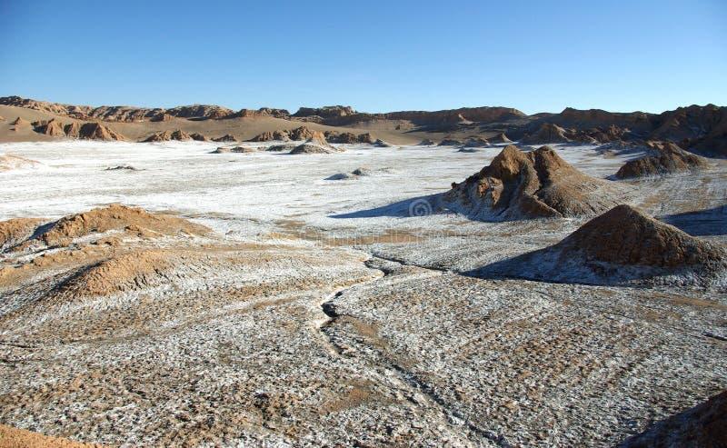 la luna valle Чили de стоковое изображение