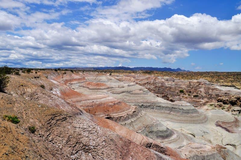 la luna valle de Парк Ischigualasto захолустный ареальных стоковые изображения rf