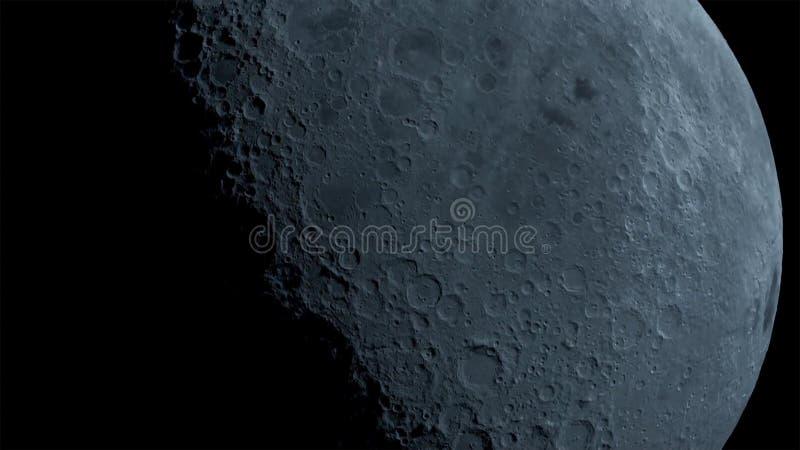 La lune dans l'obscurité au désert du Néguev de l'Israël illustration de vecteur