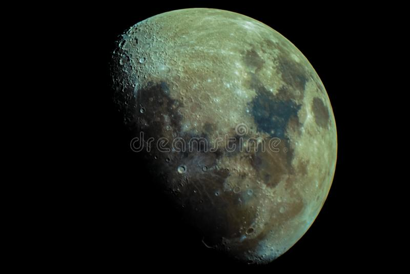 La lune de colorfull de Tabasco photographie stock