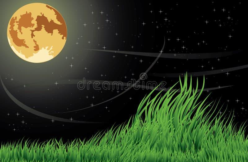 La lune de nuit photos stock