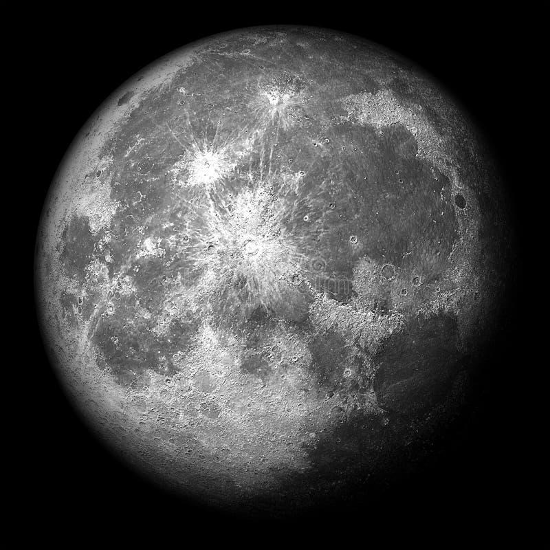 La lune superbe 3d réaliste rendent illustration libre de droits