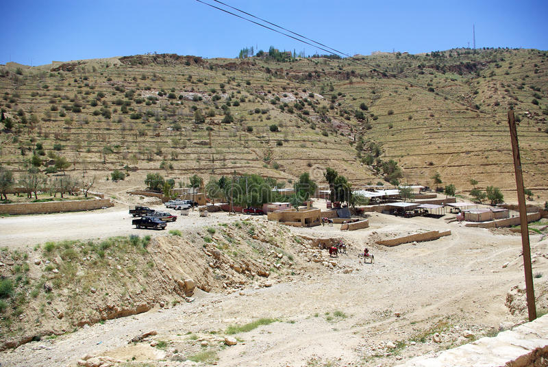 La lunga strada a PETRA jordan fotografia stock libera da diritti