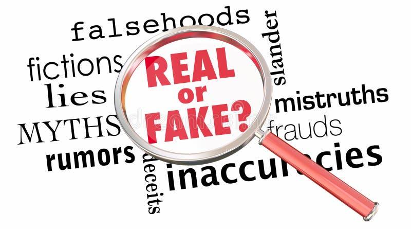 La lupa real o falsa miente la información incorrecta 3d Illustra libre illustration