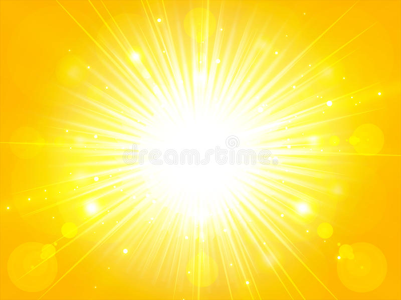La luz amarillo-naranja del sol del verano estalló el sol del verano que brillaba, CCB libre illustration