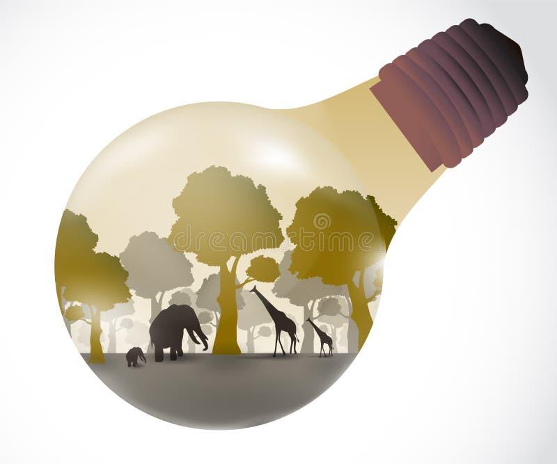 La luz del concepto natural stock de ilustración