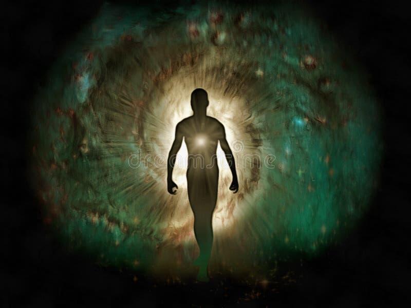 La luz interna del ser humano ilustración del vector