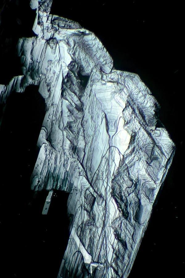 La luz polarizada hace brillo de los cristales fotografía de archivo libre de regalías
