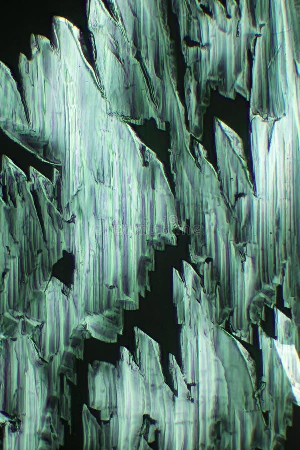 La luz polarizada hace brillo de los cristales fotos de archivo