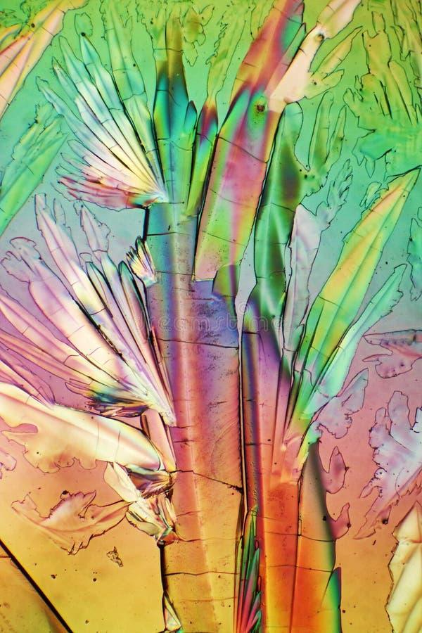 La luz polarizada hace brillo de los cristales stock de ilustración