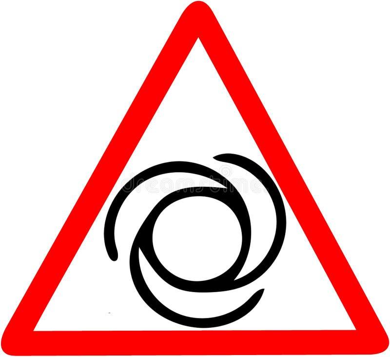 La máquina amonestadora de la máquina rotatoria de la parte contiene el ejemplo giratorio del icono de la seguridad en el empleo  stock de ilustración