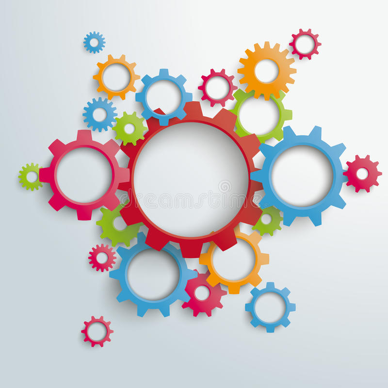 La máquina grande coloreada adapta PiAd libre illustration