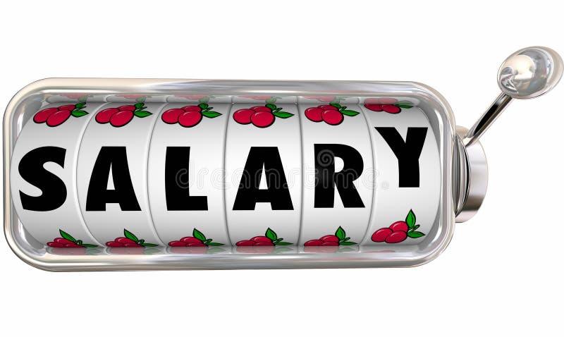 La máquina tragaperras del sueldo rueda los diales Job Income Pay Earnings libre illustration