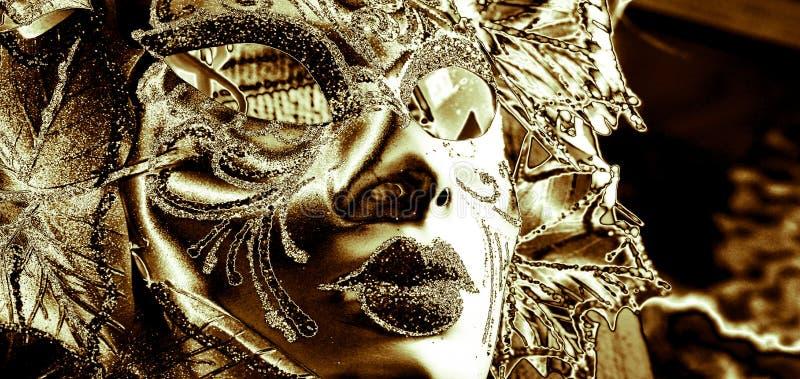 La máscara del palo con alas ilustración del vector